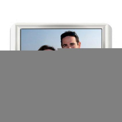 Your Photo In White Frame Look On Flexible Magnet