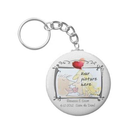 Your Photo Wedding Save the Date Keychains