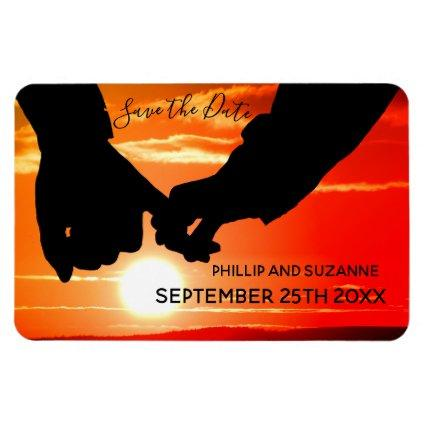 Your Romantic Photo Custom Save the Date Magnet