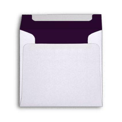 You're Invited Plum Custom Envelopes