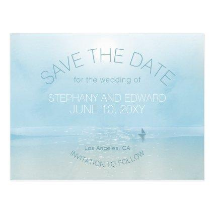 Zen Sea Sailing Boat Save the Date Cards